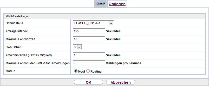 Bintec R1200 - IPTV IGMP Proxy extern