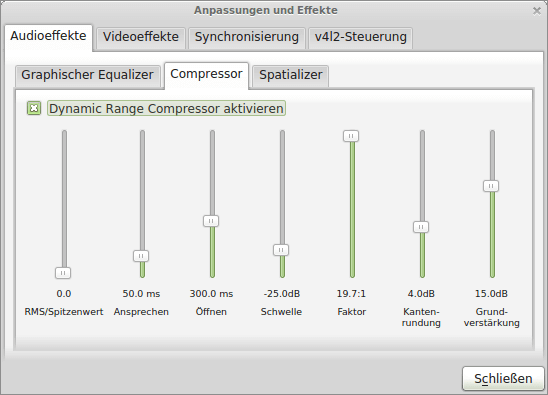 VLC Dynamic Range Compressor