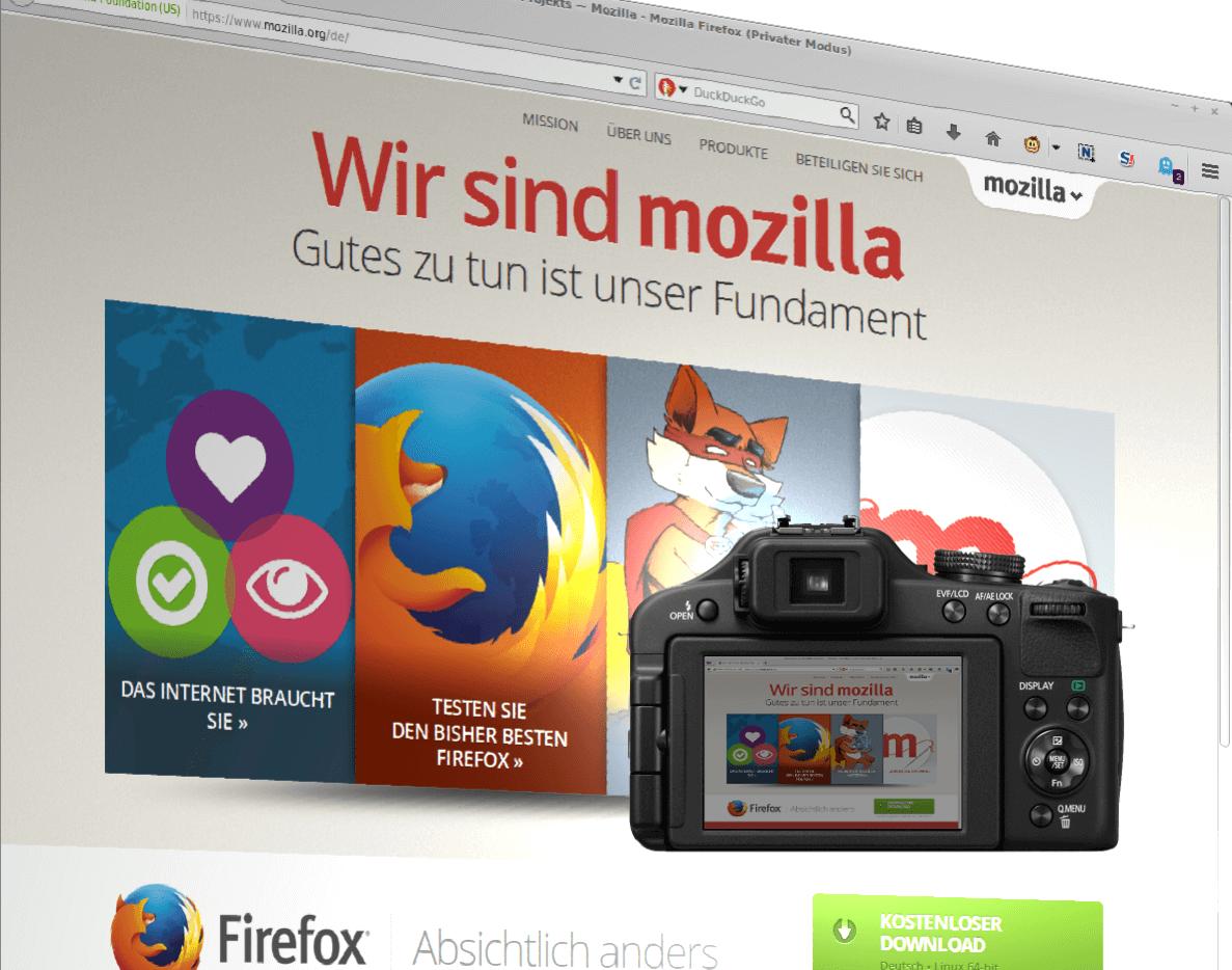 Firefox: Webseiten-Screenshots erstellen