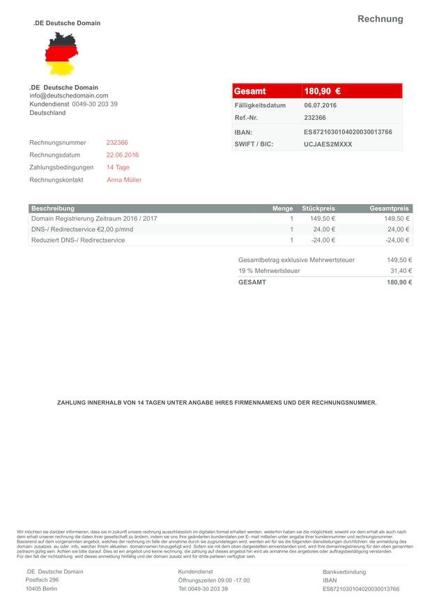 Rechnung 232366