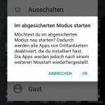 Abgesicherten Modus unter Android starten